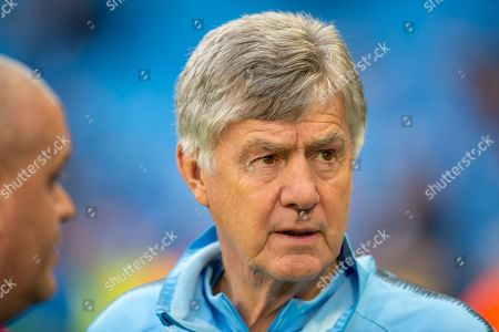 Manchester City co-assistant coach, Brian Kidd before the Champions League quarter-final leg 2 of 2 match between Manchester City and Tottenham Hotspur at the Etihad Stadium, Manchester
