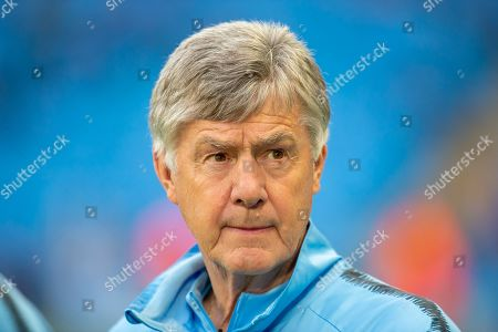 Stock Photo of Manchester City co-assistant coach, Brian Kidd before the Champions League quarter-final leg 2 of 2 match between Manchester City and Tottenham Hotspur at the Etihad Stadium, Manchester