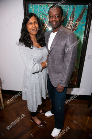 Lolita Chakrabarti and Adrian Lester (Daddy Brubeck)