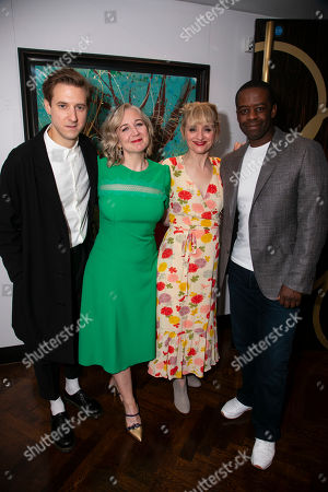 Arthur Darvill (Oscar Lindquist), Josie Rourke (Director), Anne-Marie Duff (Charity Hope Valentine) and Adrian Lester (Daddy Brubeck)