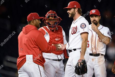 Editorial picture of Giants Nationals Baseball, Washington, USA - 17 Apr 2019