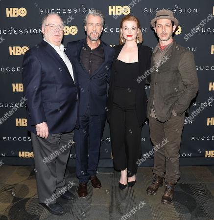 Frank Rich (Exec. Producer), Alan Ruck, Sarah Snook and Jeremy Strong