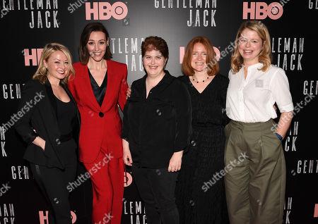 Kathleen McCaffrey, Suranne Jones, Sally Wainwright, Faith Penhale and Laura Lankester