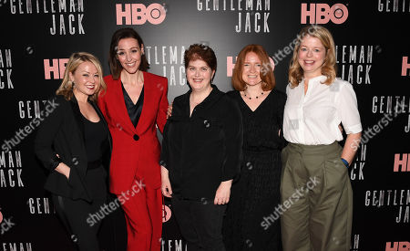 Kathleen McCaffrey, Suranne Jones, Sally Wainwright, Faith Penhale and Laura Lankester
