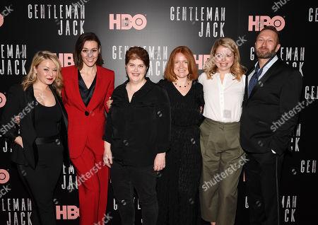 Stock Image of Kathleen McCaffrey, Suranne Jones, Sally Wainwright, Faith Penhale, Laura Lankester and Phil Collinson