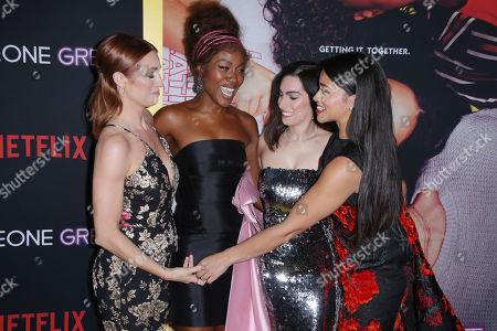 Brittany Snow, DeWanda Wise, Jennifer Kaytin Robinson and Gina Rodriguez