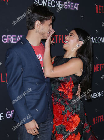Gina Rodriguez and fiance Joe LoCicero