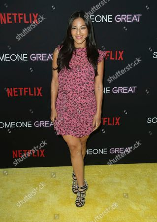 "Stock Photo of Tracy Perez arrives at a special screening of ""Someone Great"", at ArcLight Hollywood in Los Angeles"