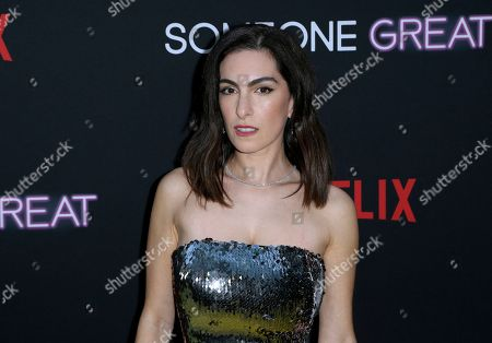 """Jennifer Kaytin Robinson arrives at a special screening of """"Someone Great"""", at ArcLight Hollywood in Los Angeles"""