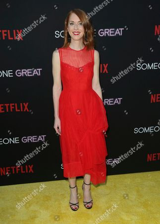 """Stock Photo of Jessie Henderson arrives at a special screening of """"Someone Great"""", at ArcLight Hollywood in Los Angeles"""