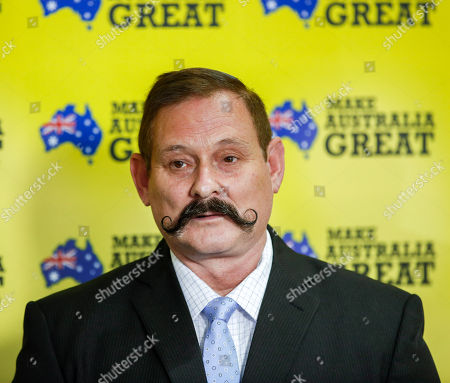 Queensland United Australia Party candidate Martin Brewster addresses the media during a press conference in Townsville, Australia, 18 April 2019. During the press conference, Federal Leader of the United Australia Party Clive Palmer announced he is now entering the race for a seat in the Senate, alongside his other Queensland UAP candidates Martin Brewster and Yodie Batzke in the upcoming federal election, scheduled for 18 May 2019.