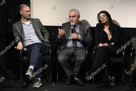 Jesse Armstrong (Creator, Exec. Producer), Brian Cox and Hiam Abbass