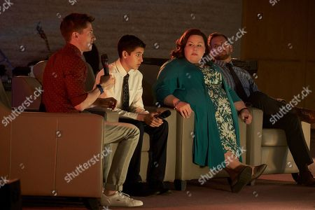 Topher Grace as Pastor John Noble, Marcel Ruiz as John Smith, Crissy Metz as Joyce Smith and Josh Lucas as Brian Smith