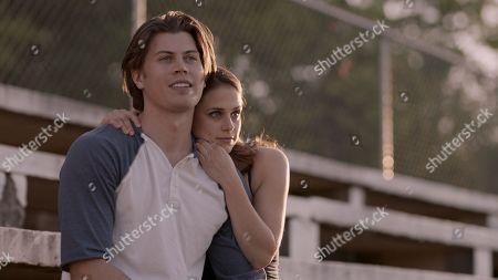 Stock Image of Tanner Stine as Zach Truett and Kelsey Reinhardt as Ginger