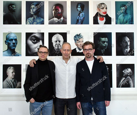 (L-R) Federico Borella, Photographer of the Year, artist Nadav Kander this year's Outstanding Contribution to Photography and exhibition curator Mike Trow