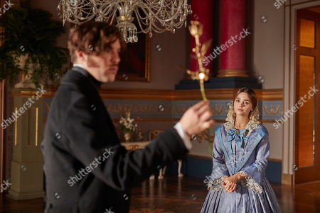 Jenna Coleman as Queen Victoria and Tom Hughes as Prince Albert.