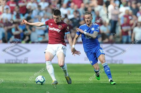 Editorial image of West Ham United v Leicester City, Premier League, Football, The London Stadium, Queen Elizabeth Olympic Park, London, UK -