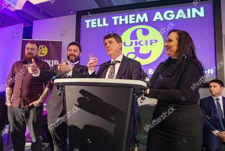 UKIP Leader, Gerard Batten, launches UKIP's European Parliamentary election campaign. Ukip Press Conference