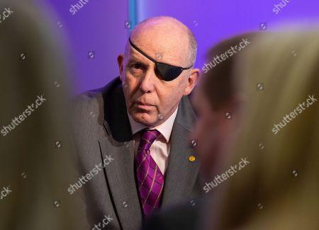 UKIP candidate UKIP Leader, Gerard Batten, launches UKIP's European Parliamentary election campaign. Ukip Press Conference