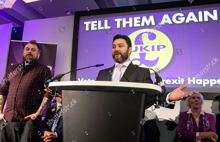You Tuber and Comedian, Carl Benjamin, address the conference. UKIP Leader, Gerard Batten, launches UKIP's European Parliamentary election campaign. Ukip Press Conference