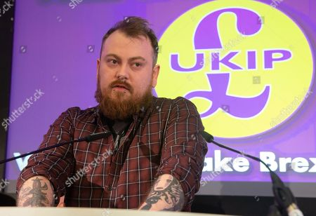 You Tuber and Comedian, Mark Meecham, address the conference. UKIP Leader, Gerard Batten, launches UKIP's European Parliamentary election campaign. Ukip Press Conference