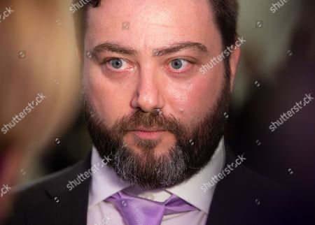 You Tuber and Comedian, Carl Benjamin, speaks to the media after the conference. UKIP Leader, Gerard Batten, launches UKIP's European Parliamentary election campaign. Ukip Press Conference