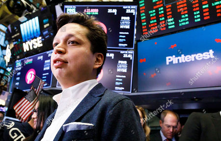 Editorial photo of Pinterest IPO at New York Stock Exchange, USA - 18 Apr 2019