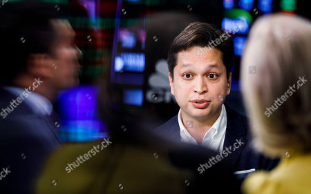Editorial image of Pinterest IPO at New York Stock Exchange, USA - 18 Apr 2019