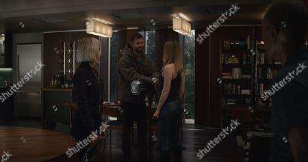 Scarlett Johansson as Natasha Romanoff/Black Widow, Chris Hemsworth as Thor, Brie Larson as Carol Danvers/Captain Marvel and Don Cheadle as James Rhodes/War Machine