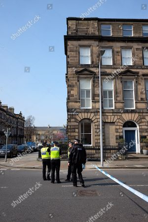 Police at the scene on Chester Street where former boxer and Trainspotting T2 actor Bradley Welsh died after being shot
