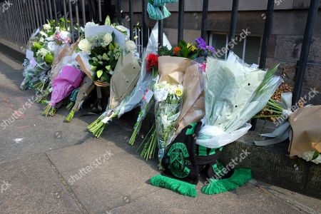 Flower tributes to Former boxer and Trainspotting T2 actor Bradley Welsh who died after being shot near his home