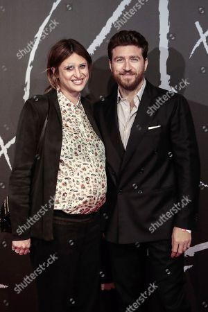 Claudia Ranieri, daughter of Claudio Ranieri, and husband Alessandro Roja