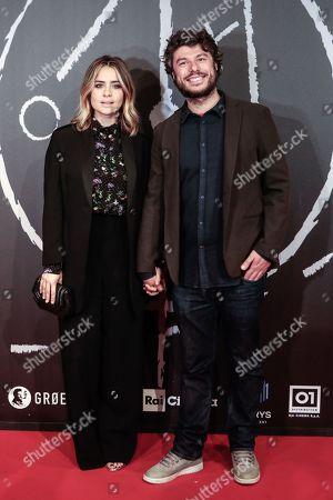 Greta Scarano with fiance Sydney Sibilia