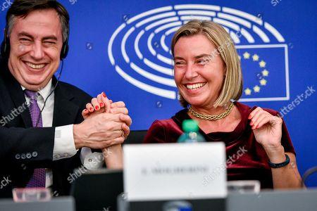 David McAllister and Federica Mogherini