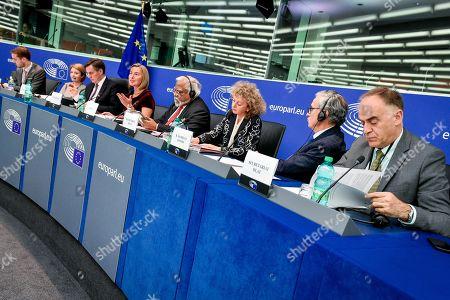 David McAllister, Federica Mogherini, Nirj Deva and Ramon Jauregui Atondo