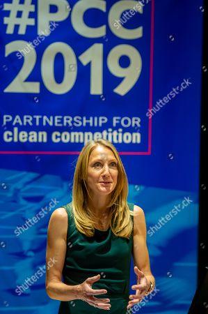 Stock Image of Paula Radcliffe gives keynote address