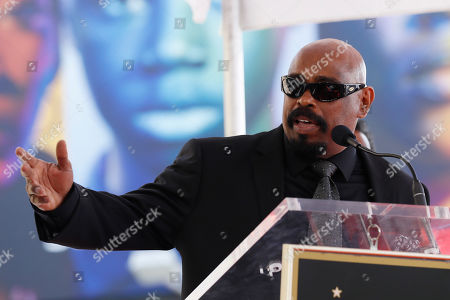 Sen Dog of Cypress Hill of Cypress Hill delivers a speech before the unveiling with the other group members of the Cypress Hill's 2,660th Star on the Hollywood Walk of Fame in Hollywood, California, USA, 18 April 2019. Cypress Hill is the first Latino American Hip Hop group to be honored with a star. The star was dedicated in the Category of Recording.