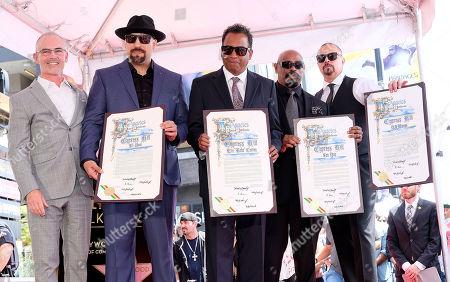 Mitch O'Farrell and Cypress Hill - B-Real, DJ Muggs, Sen Dog, Eric 'Bobo' Correa