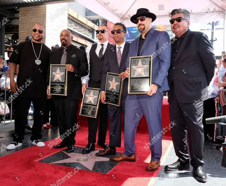 Stock Photo of Xzibit, B-Real, DJ Muggs, Sen Dog, Eric Bobo and George Lopez