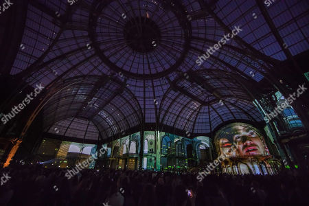 Editorial image of Wim Wenders' film performance at the Grand Palais in Paris, France - 18 Apr 2019