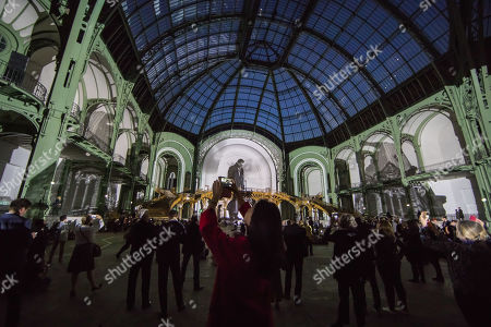 Editorial photo of Wim Wenders' film performance at the Grand Palais in Paris, France - 18 Apr 2019