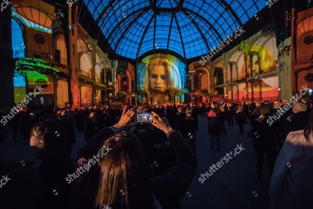 Editorial picture of Wim Wenders' film performance at the Grand Palais in Paris, France - 18 Apr 2019