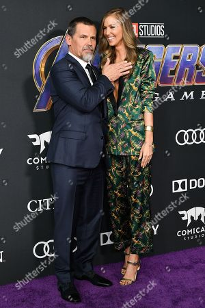 Stock Photo of Josh Brolin and Kathryn Boyd