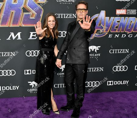 Stock Image of Susan Downey and Robert Downey Jr.