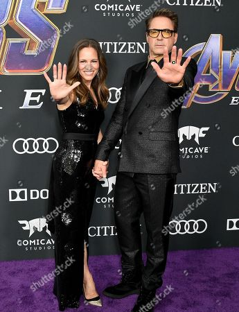 Stock Picture of Susan Downey and Robert Downey Jr.