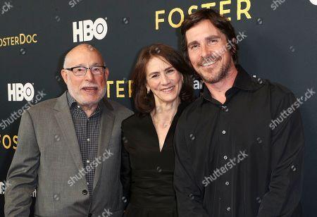 Mark Jonathan Harris, Deborah Oppenheimer and Christian Bale