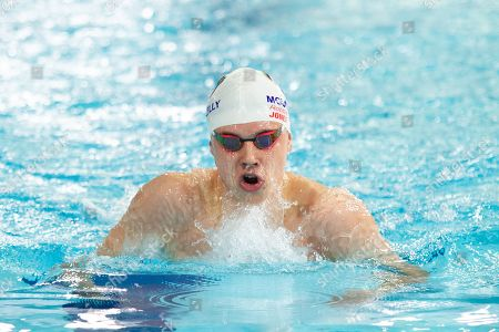 Robbie Jones (Mount Kelly) in action during the men's junior 400 metres individual medley final, during Day 3, at Tollcross International Swimming Centre.