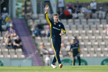 Mason Crane of Hampshire during the Royal London 1 Day Cup match between Hampshire County Cricket Club and Glamorgan County Cricket Club at the Ageas Bowl, Southampton
