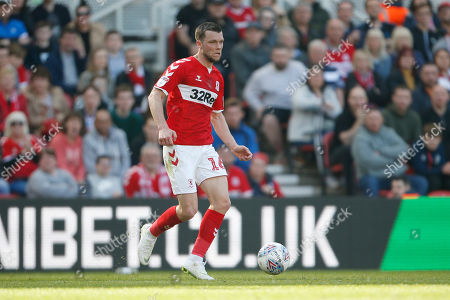 Middlesbrough midfielder Jonathan Howson (16)  during the EFL Sky Bet Championship match between Middlesbrough and Stoke City at the Riverside Stadium, Middlesbrough