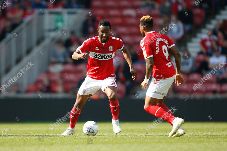 Middlesbrough midfielder Mikel John Obi (2)  during the EFL Sky Bet Championship match between Middlesbrough and Stoke City at the Riverside Stadium, Middlesbrough